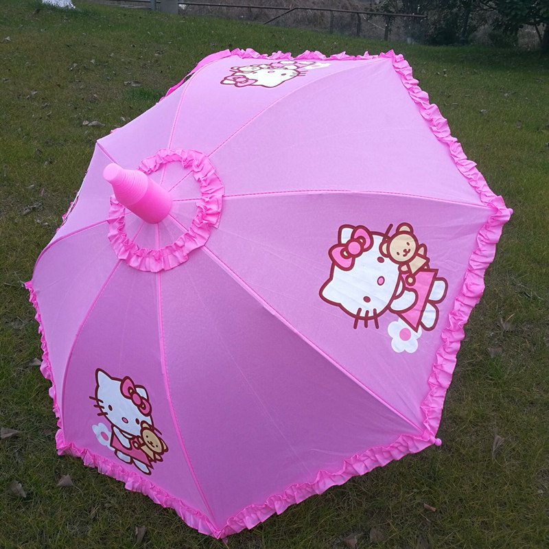 儿童雨伞宝宝KT猫遮阳伞幼儿园小学生伞男女防水套公主卡通雨伞热销219件正品保证