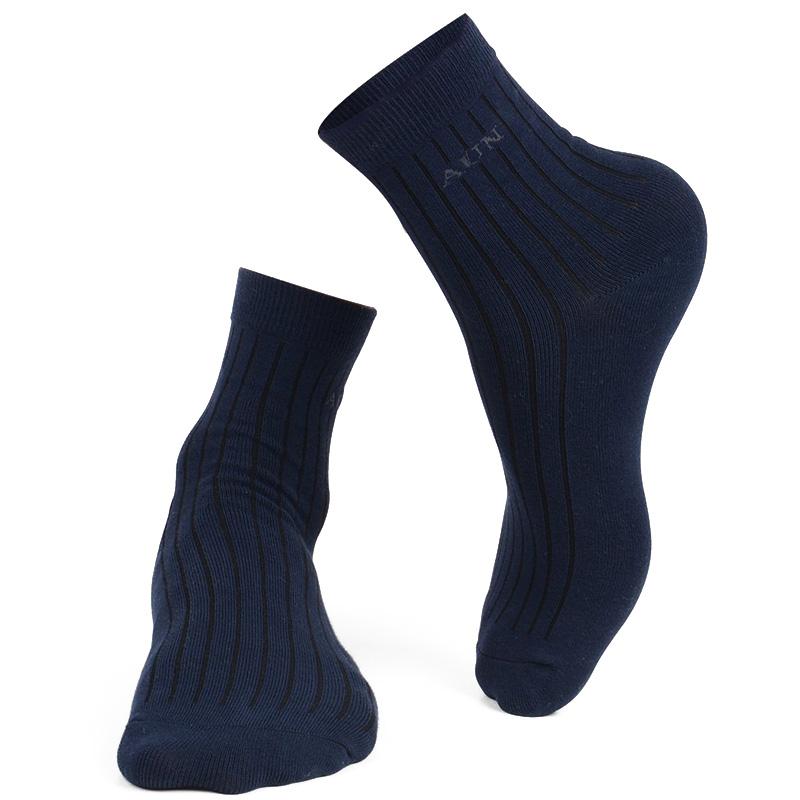 爱优恩中筒纯棉正装男袜子AUN抗菌防臭袜总裁高端商务袜春夏薄款