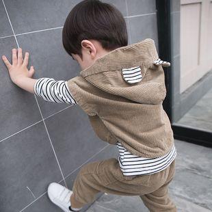 童装 套装 5岁潮 3儿童洋气小童4帅宝宝三件套2韩版 2020新款 男童秋装