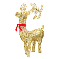 Ronsen Christmas Hotel Shopping mall window creative decoration scene package layout led lamp decorations Christmas deer