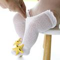 宝宝袜子夏季薄款防蚊袜婴儿袜子女童高筒袜纯棉男童网眼袜防蚊袜