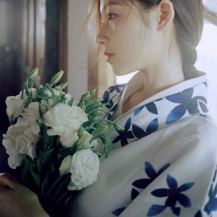 山鸟和色春夏新款日式和风浴衣女复古少女连衣裙改良和服现 蓝星