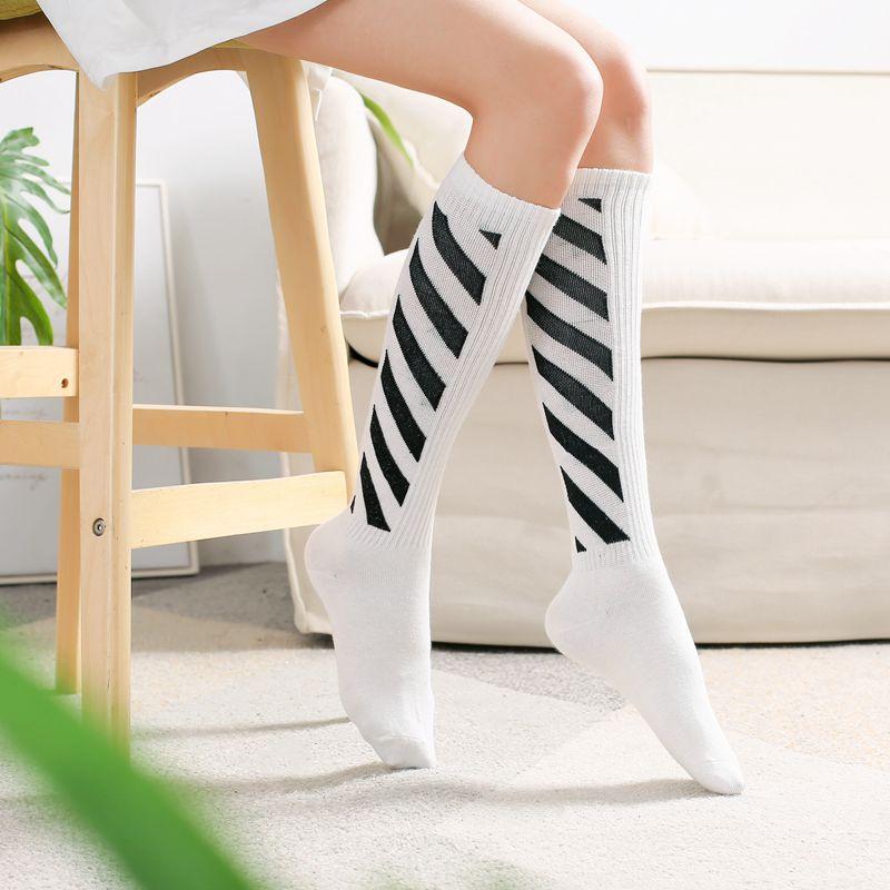 花潮花汐校服袜子中筒袜女学院风堆堆袜韩版运动棒球袜时尚新款