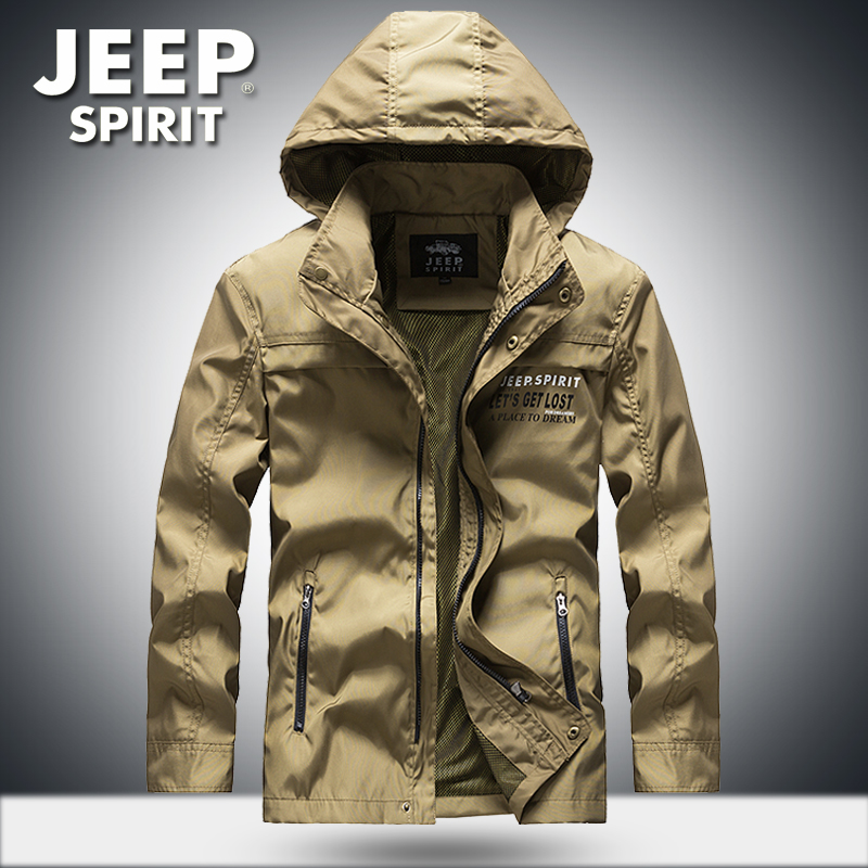 Jeep / Jeep official medium length jacket mens youth and middle aged outdoor sports coat loose oversized top
