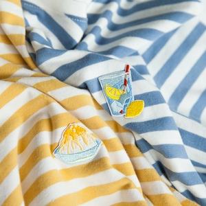 hewu和物 原创设计女装 自制日系夏天就要吃刨冰 条纹T恤衫海魂衫