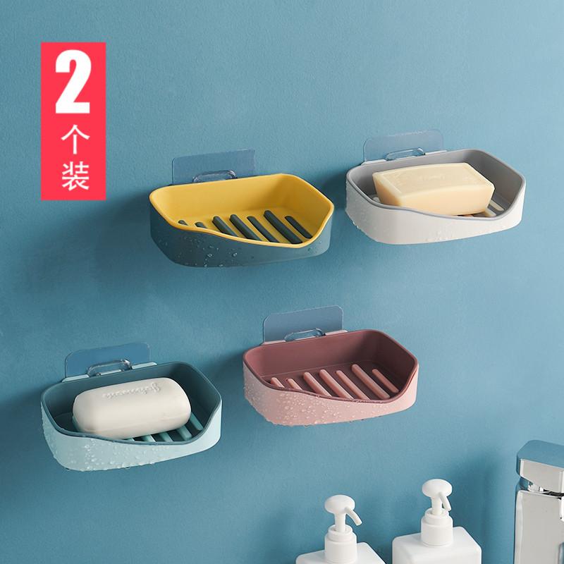 壁挂创意双层卫生间置物架盒香皂盒热销34件手慢无