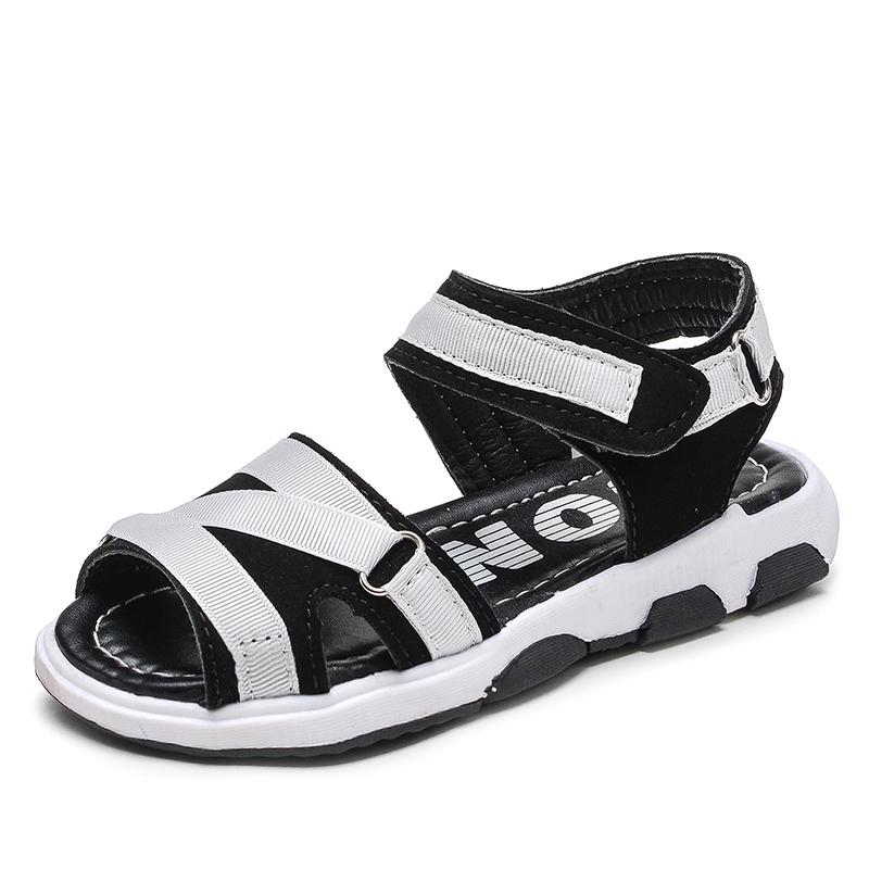 女童鞋涼鞋夏中大童2017 小女孩男童鞋軟底小學生鞋兒童涼鞋女