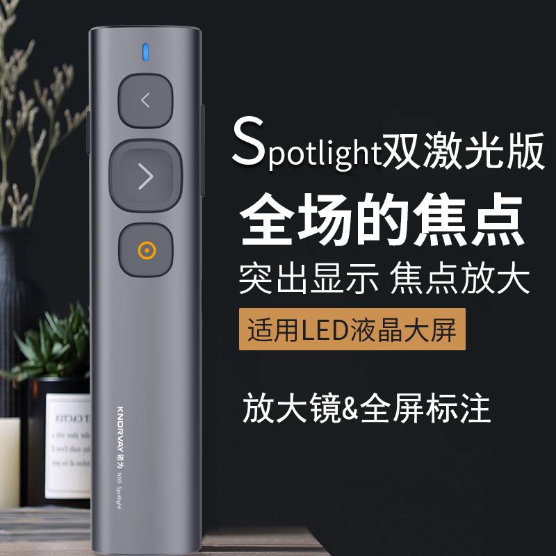 诺为N95Spotlight激光翻页笔ppt遥控器教师教学多媒体电子投影仪