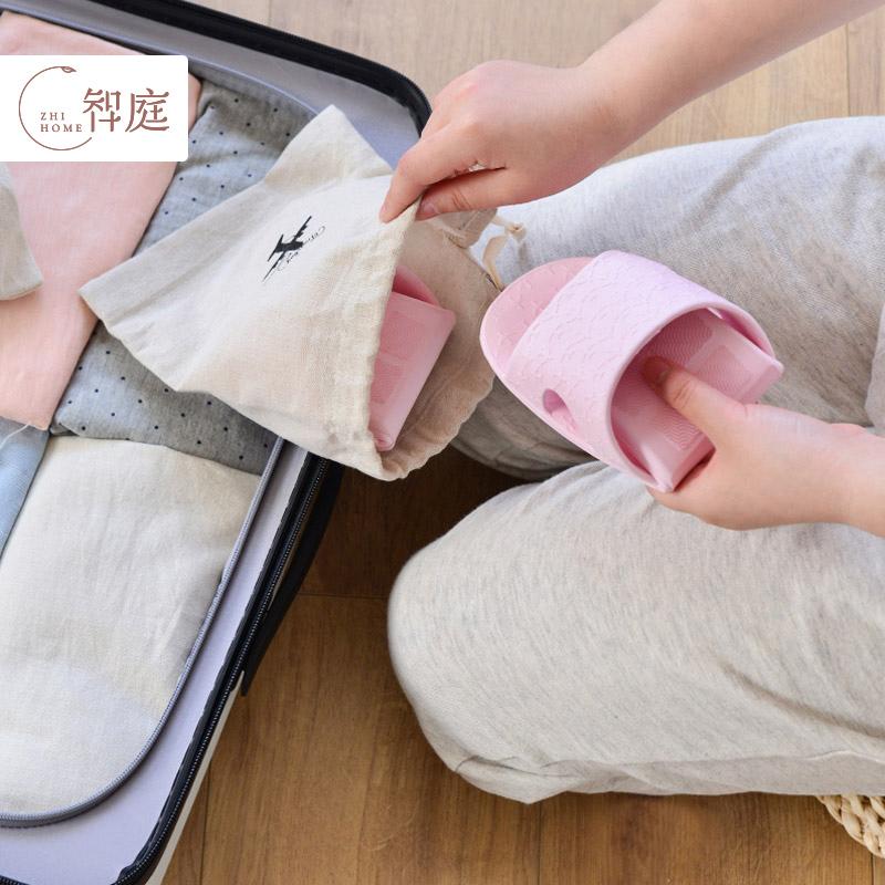 智庭夏季超轻便携飞机拖鞋女出差旅行旅游可折叠浴室防滑凉拖鞋男24.80元包邮