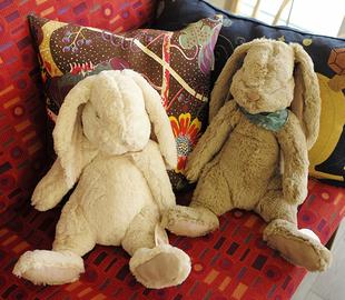 出口丹麦 手感超级舒服高端毛绒兔玩偶陪睡安抚男女小朋友礼物