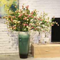 Rose Tree floor vase paired with floral real tree pole fake flower simulation flower living room hotel decoration Flower Art