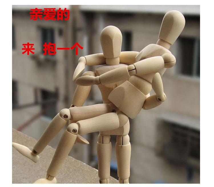 木�^人偶 �P�人模型素描�和�玩具��木素描漫��模型木人20cm30CM
