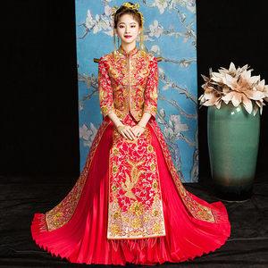 秀禾服新娘2020新款春夏龙凤褂中式婚纱结婚礼服古装嫁衣敬酒旗袍
