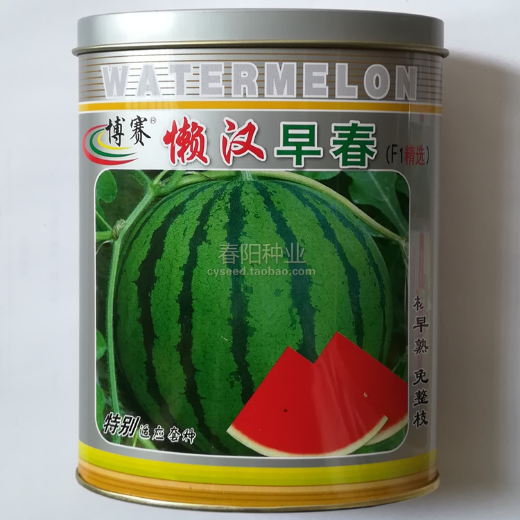Lazy early spring watermelon seed bosai Tianbao hybrid thin skinned lazy watermelon seed juicy, sweet and early maturing