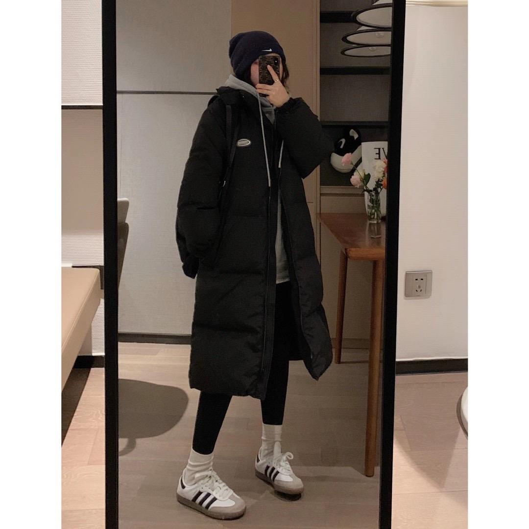 冬季新款韩版宽松显瘦过膝加厚白鸭绒外套2020羽绒服女中长款VEEE