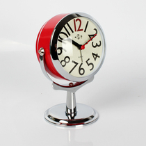 闹钟创意小钟表学生简约可爱时钟静音床头台钟儿童迷你卧室夜光钟