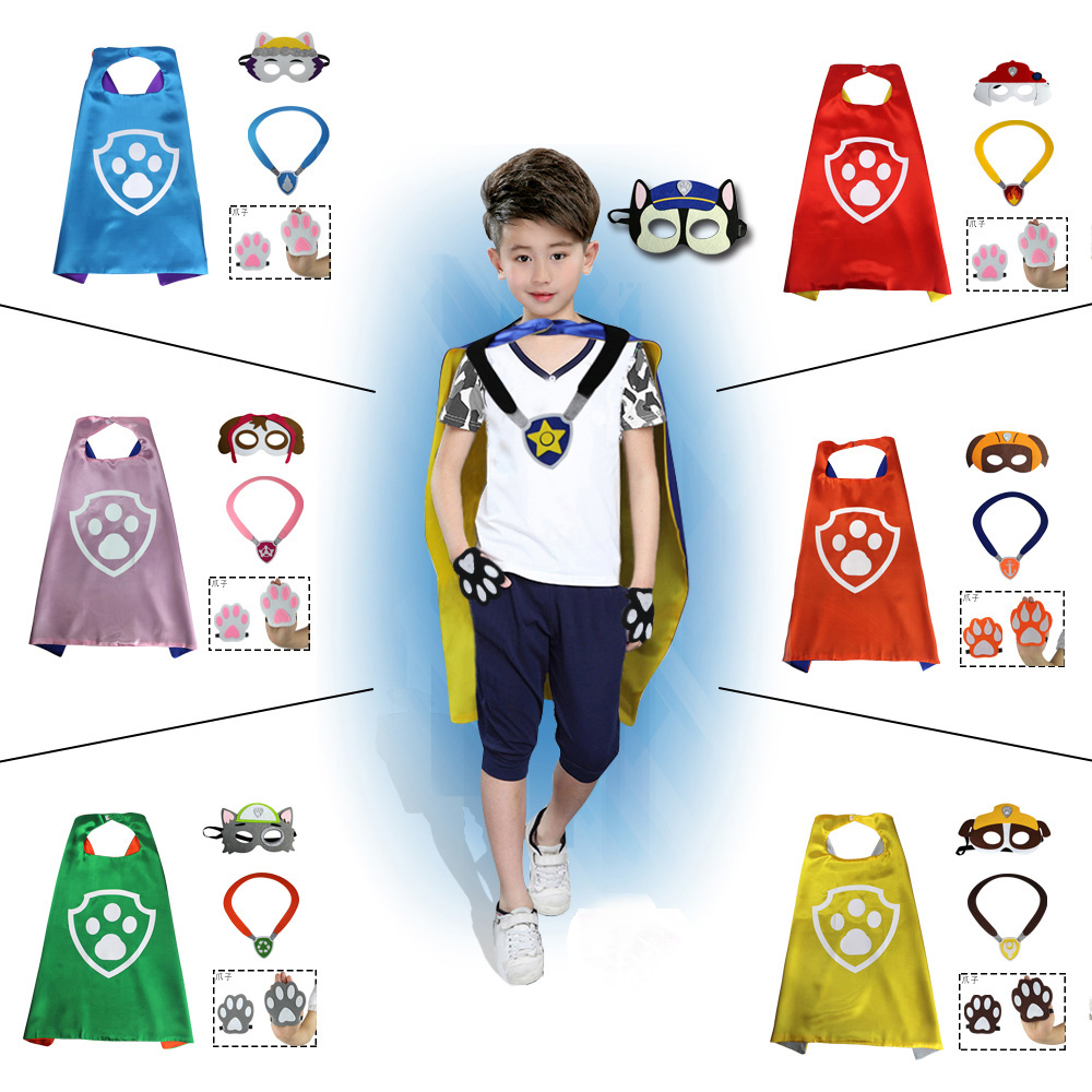 70cm Wangwang team children cos archilaide daily dog Li Dagong Cape mask dog claw neck Dog Tag
