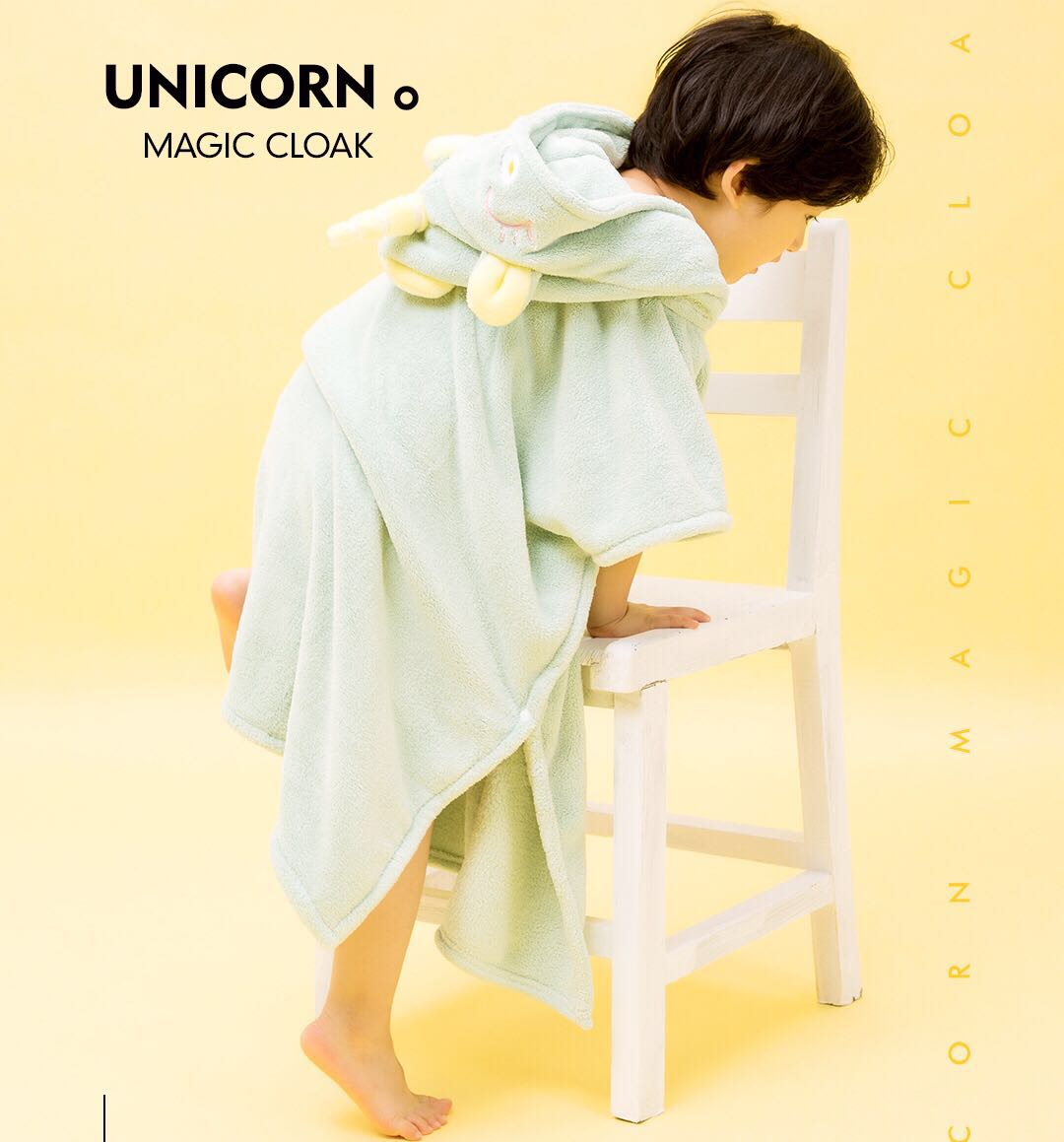 Moonma dream horse myuni Unicorn magic cloak childrens bath towel bathrobe hooded outdoor beach travel suction