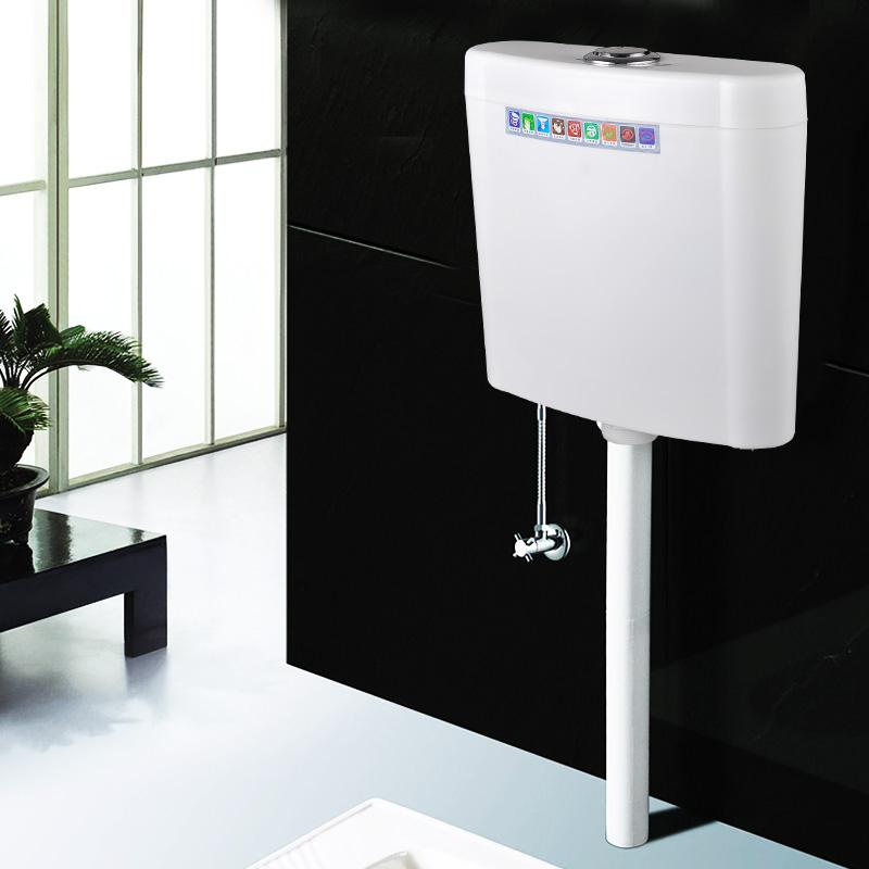 蹲便器水箱衛生間廁所衝水箱壁掛式水箱節能馬桶水箱雙按鈕普通款