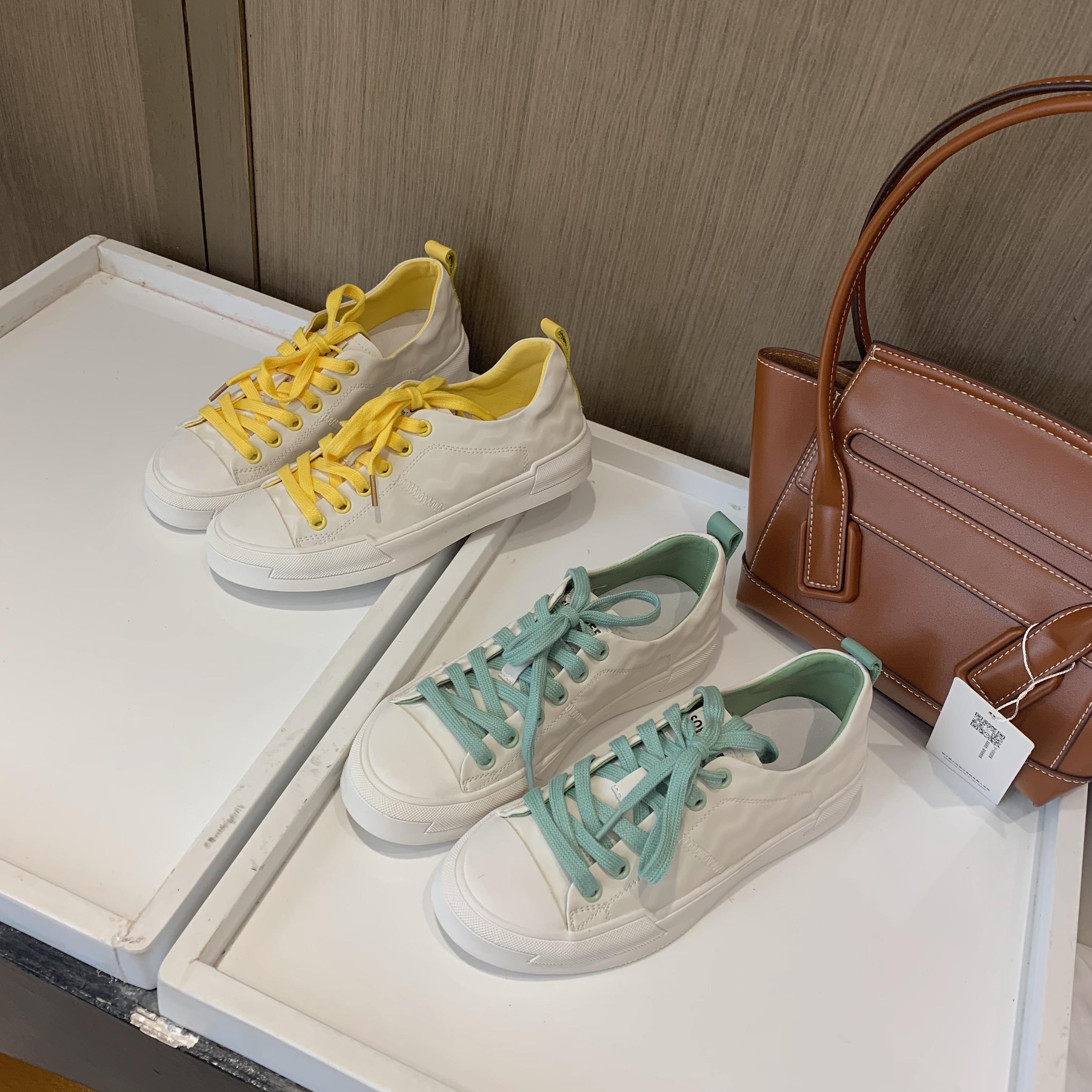 真皮小白鞋女2020春季百搭休閑鞋單鞋板鞋女 2A8005