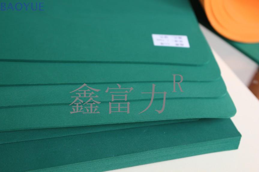 55度绿色进口圆刀专用OCA刀模泡棉垫刀泡棉海棉橡胶高弹刀模海绵