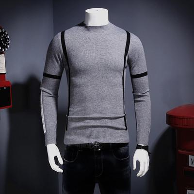 2017冬季新款 时尚条纹 潮男保暖 高品质貂绒衫U1710-P230