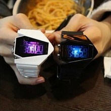South Korea ulzzang luminous LED lights waterproof multifunctional fighter watches lovers plane table port for men and women