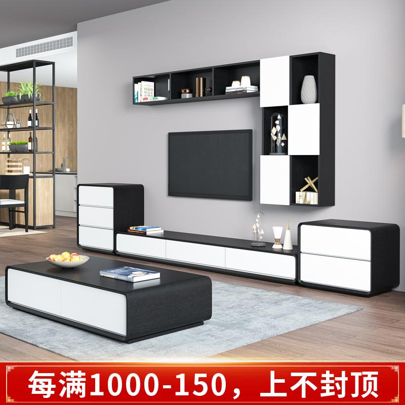 大きさの戸型の客間の家具は近代的で簡単です。北欧のテレビ局のお茶はいくつかセットになっています。