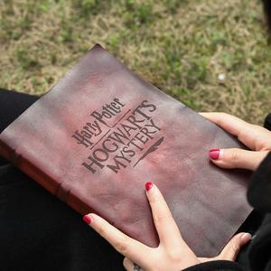 原创哈利波特魔法书手工牛皮日记本