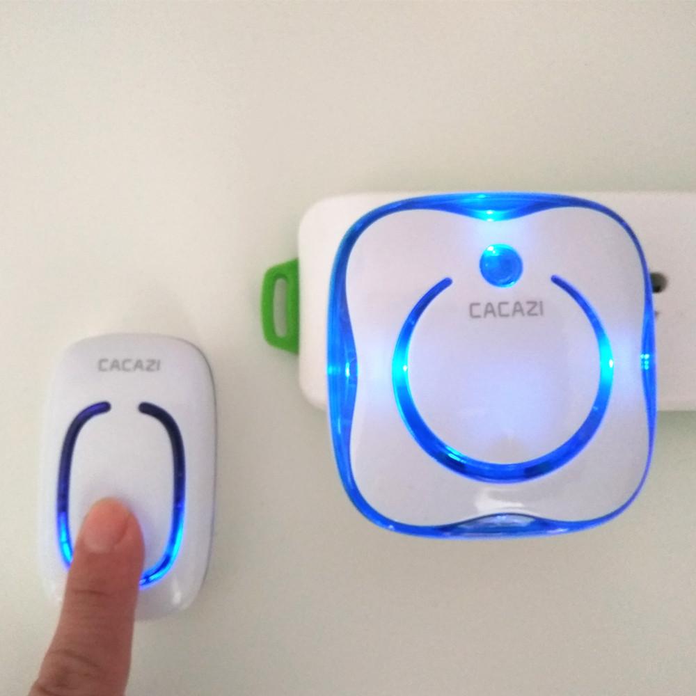 数码闪光音乐防水门铃无线家用一拖一拖二远距离遥控老人呼叫器