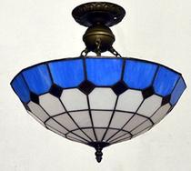 欧式灯具地中海玻璃简约吸顶吊灯创意温馨餐厅客厅卧室新奇特蓝白