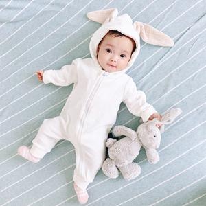 女婴儿连体衣服夏季宝宝夏装男12新生儿0外套装3春装6个月1岁春秋