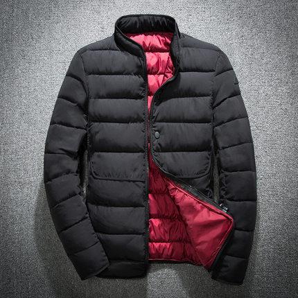 厂家直销冬季新款男士棉服休闲立领修身青少年羽绒棉衣男加厚外套