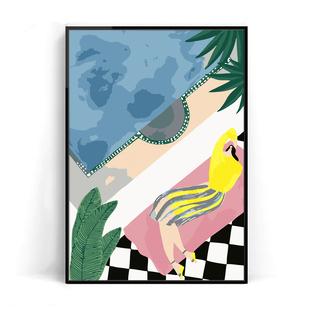 數字油畫填色減壓成年裝飾畫創意手繪填充掛畫塗色手工diy油彩畫