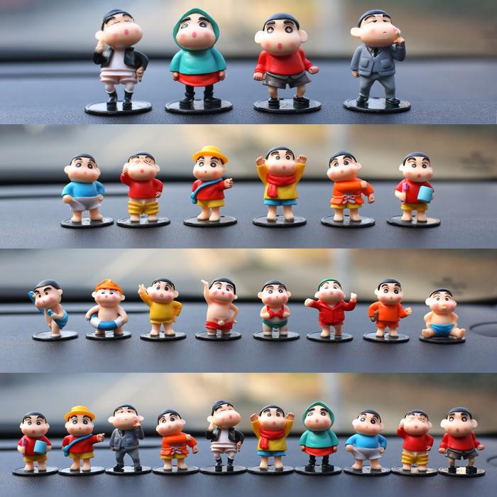 卡通动漫蜡笔小新公仔摆设玩偶创意汽车内装饰用品车载小摆件包邮