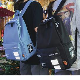 书包韩版原宿ulzzang男时尚潮流双肩包女中学生背包初中生少年男图片