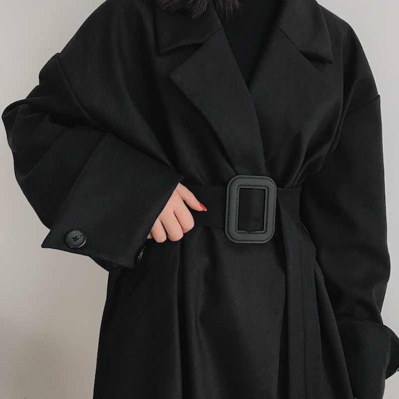 BOCCALOOK定制 仿貂毛西装毛呢外套