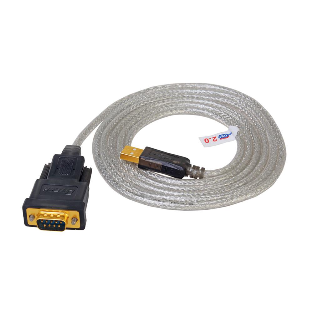 帝特DB9針USB轉RS232串口線COM口RS~232九針公頭USB to consol