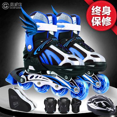 溜冰鞋儿童全套套装旱冰轮滑鞋男童女初学者中大童成年女生大学生