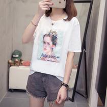 高档肥妹妹木子理想大码女装加宽松显瘦短袖T恤半袖上衣200斤早秋