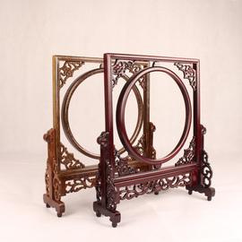 红木镜框像框鸡翅木台屏屏风插屏实木装饰摆件木质装裱字画镜框架