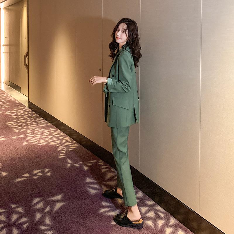 小西装套装女2021春装新款韩版休闲时尚气质小个子显高洋气两件套