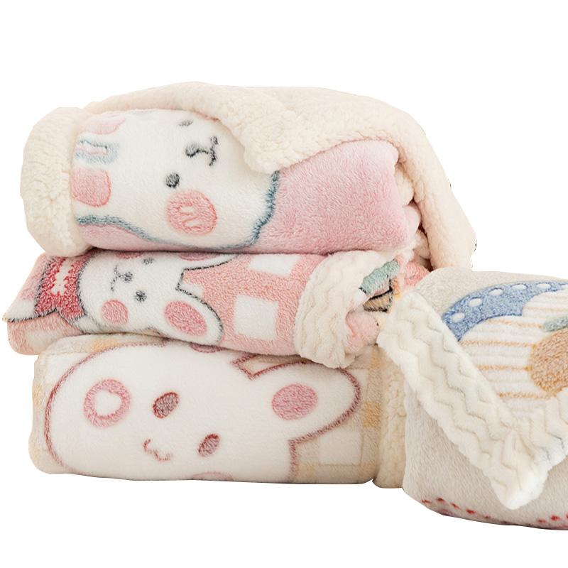双层加厚珊瑚绒冬季毛巾宝宝小毯子好用吗
