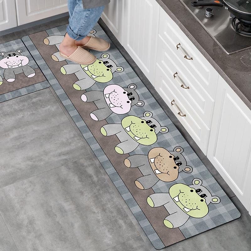 厨房地垫吸水吸油防滑长条耐脏家用垫子浴室进门口卫生间地毯脚垫