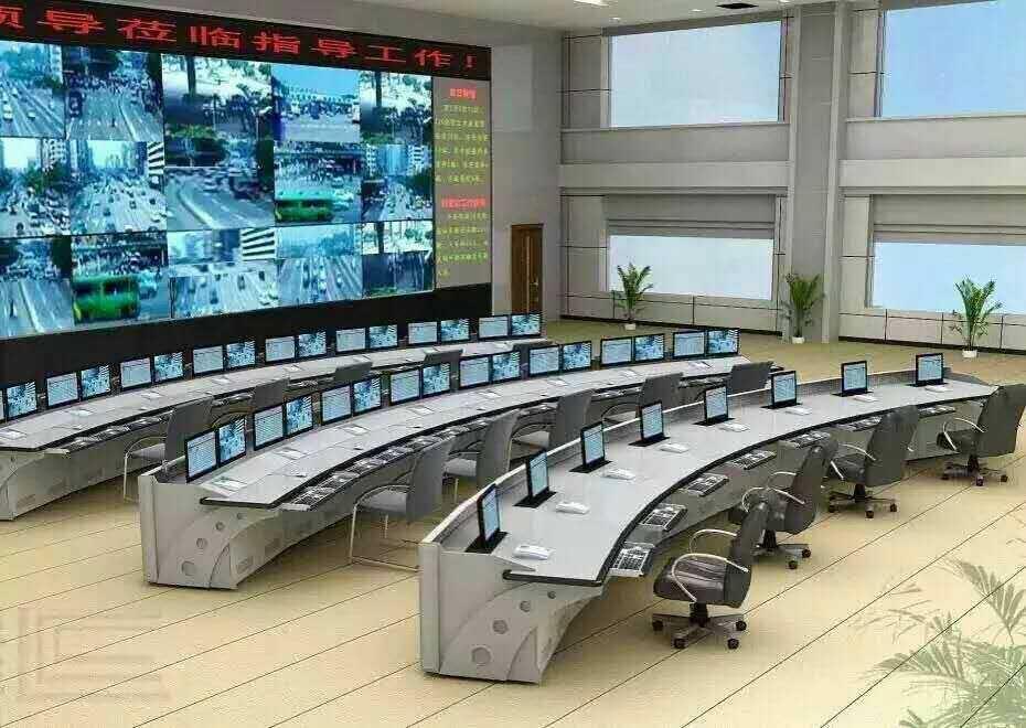 豪华监控操作台 弧形监控平台 中央操控台 调度台 可并联按联计价