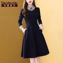 Daniel Skirt Autumn Dresses New Long Sleeve Sleeve Sleeve Slim Westernized Dresses of Famous Temperament in 2019