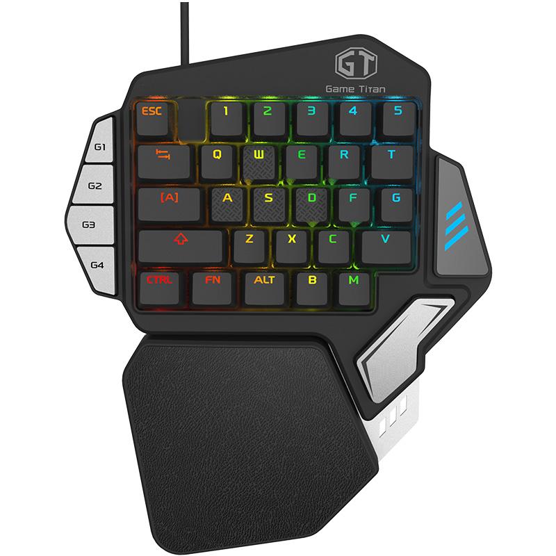 多彩T9X单手机械键盘吃鸡绝地枪神王座手机平板键盘通用安卓苹果