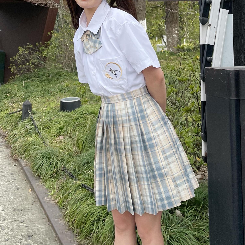 C316Q006P48 夏装新款半身裙百褶裙短裙JK制服班服女装