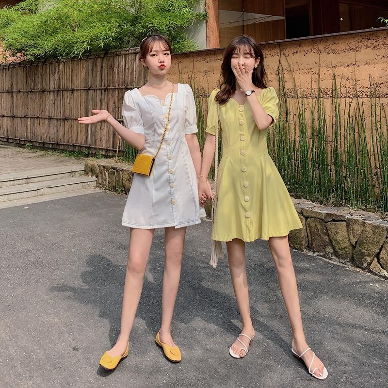 热销0件假一赔十姐妹装闺蜜装夏装2019年流行裙子小个子森系收腰显瘦女港风学生潮