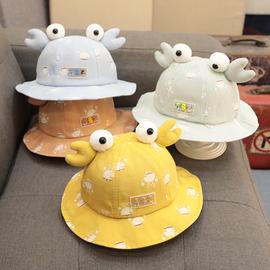 女宝宝公主帽子春款儿童渔夫帽婴儿遮阳幼儿3个月6可爱超萌春秋季图片